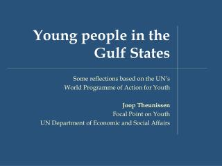 Young people in the Gulf States
