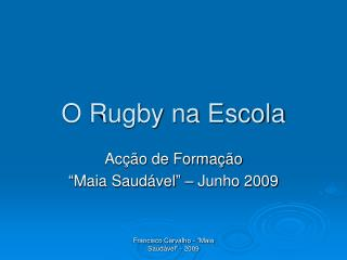 O Rugby na Escola