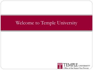 Welcome to Temple University