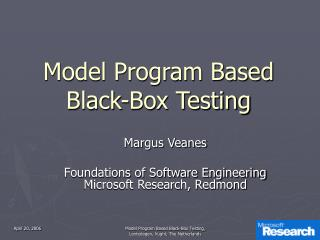 Model Program Based Black-Box Testing