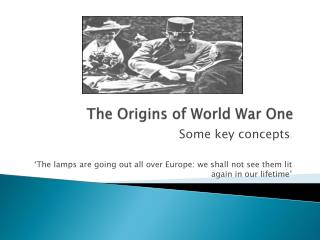 The Origins of World War One