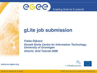 gLite job submission