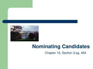 Nominating Candidates