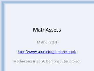 MathAssess