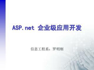 ASP  企业级应用开发