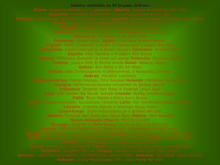 Saludos navide�os en 54 lenguas distintas
