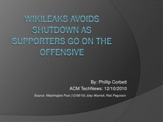 WikiLeaks  avoids shutdown as supporters go on the offensive