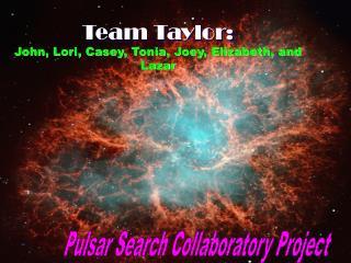 Team Taylor: John, Lori, Casey, Tonia, Joey, Elizabeth, and Lazar