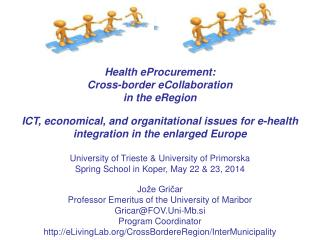 Health eProcurement: Cross-border eCollaboration in the eRegion