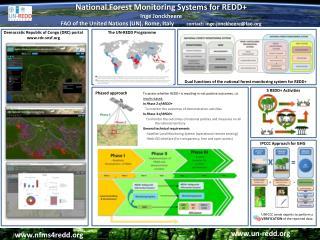 National Forest Monitoring Systems for REDD+ Inge  Jonckheere