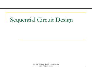 Sequential Circuit Design