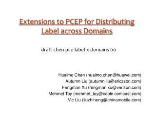 Extensions to PCEP for Distributing Label across Domains