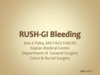 RUSH-GI Bleeding