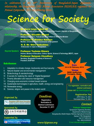Science for Society