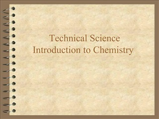 Technical Science  Introduction to Chemistry