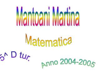 Mantoani Martina