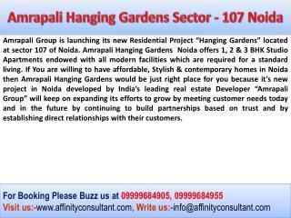 Amrapali New Project Noida | Amrapali Hanging Gardens Sector