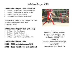 Kristen Pray - 30