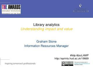 Library  analytics U nderstanding  impact and  value