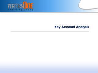 Key Account Analysis