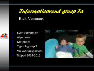 Even  voorstellen Algemeen Methodes Typisch groep 7 VO voorlopig advies Tijdpad  2014-2015