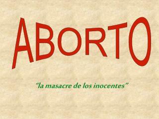 """""""la masacre de los inocentes"""""""