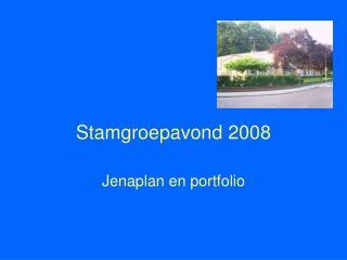 Stamgroepavond 2008