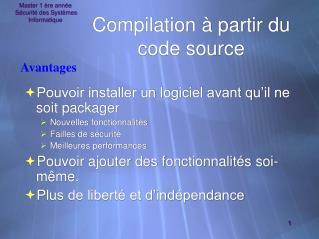 Compilation à partir du code source