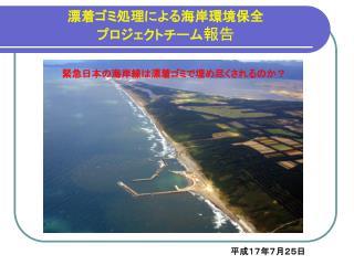 漂着ゴミ処理による海岸環境保全 プロジェクトチーム 報告