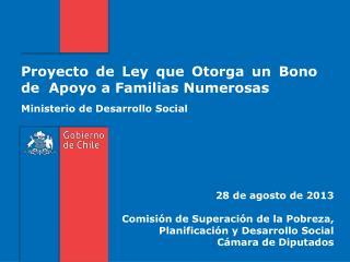Proyecto de Ley que Otorga un Bono de  Apoyo a Familias Numerosas