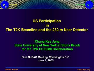 US Participation  in The T2K Beamline and the 280 m Near Detector