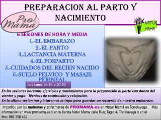 PREPARACION  AL PARTO Y NACIMIENTO