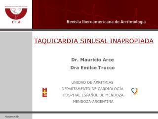 TAQUICARDIA SINUSAL INAPROPIADA