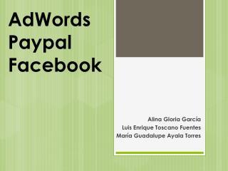 AdWords Paypal Facebook