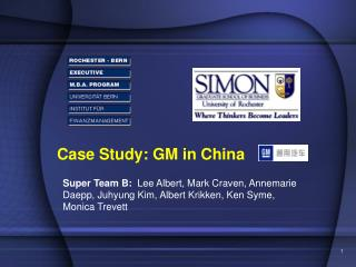 Case Study: GM in China