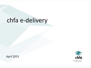 chfa e-delivery