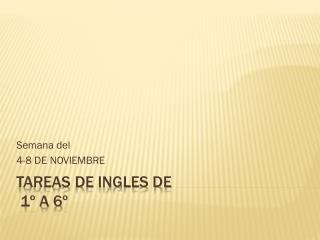 TAREAS DE INGLES DE  1º A 6º