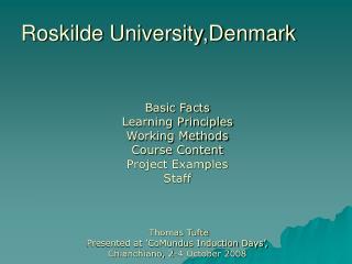 Roskilde University,Denmark