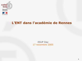 L'ENT dans l'académie de Rennes