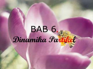 BAB 6 . Dinamika Pa rtike l