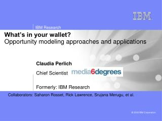 What's in your wallet?  Opportunity modeling approaches and applications