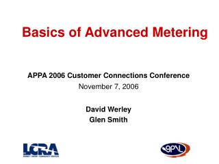 Basics of Advanced Metering