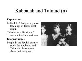 Kabbalah and Talmud (n)