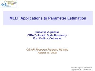 MLEF Applications to Parameter Estimation