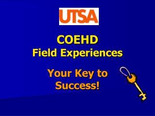 COEHD Field Experiences