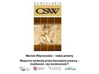 Mariola Więckowska – radca prawny