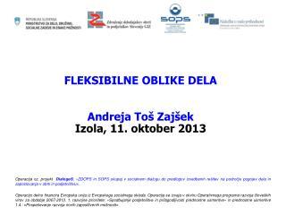 FLEKSIBILNE OBLIKE DELA Andreja Toš Zajšek Izola, 11. oktober 2013