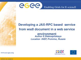 Developing a JAX-RPC based  service from wsdl document in a web service environment