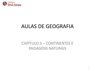 AULAS DE GEOGRAFIA