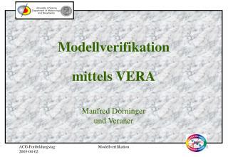 Modellverifikation  mittels VERA